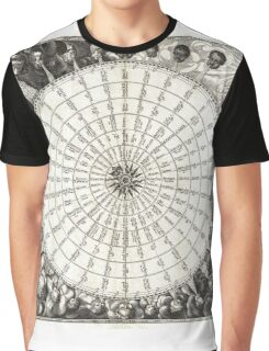 Wind Rose-Geographicus Anemographica-1650 Graphic T-Shirt