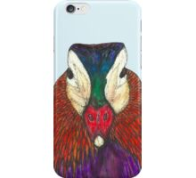Mandarin duck portrait iPhone Case/Skin