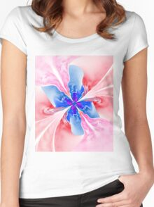 Blue butterfly Women's Fitted Scoop T-Shirt