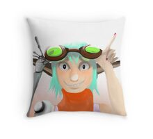 Green Goggles  Throw Pillow