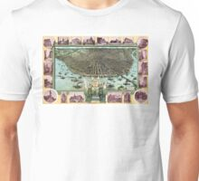 Bird's-eye view of Saint Louis in 1896. Unisex T-Shirt