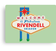 Welcome to Rivendell Canvas Print