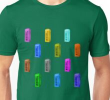 Phone booth on green flash background Unisex T-Shirt
