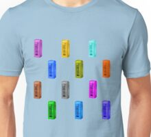 Phone booth on limpet shell background Unisex T-Shirt