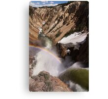 Brink of the Lower Falls of Yellowstone Canvas Print