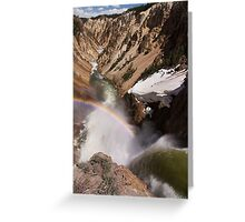Brink of the Lower Falls of Yellowstone Greeting Card
