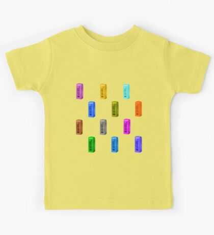 phone booth on buttercup background Kids Tee
