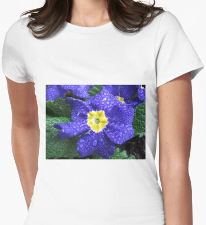 In every life some little rain must fall...Bluesy Primrose Womens Fitted T-Shirt