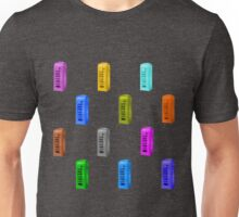 Phone booth on iced coffee background Unisex T-Shirt