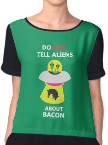 alien kidnap bacon Chiffon Top