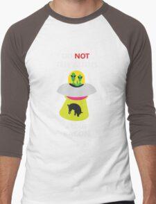 alien kidnap bacon Men's Baseball ¾ T-Shirt