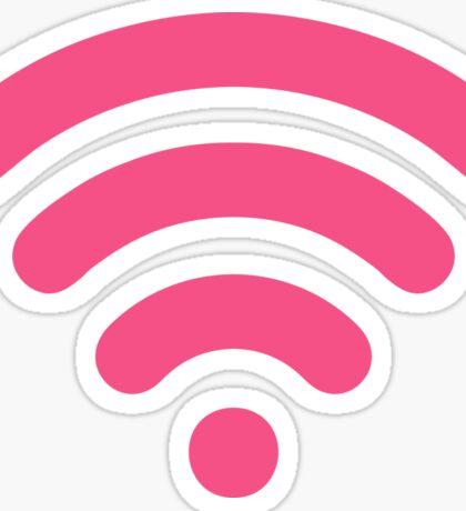 Cute Pink Wi-Fi Sticker