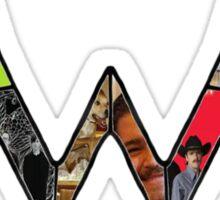 Weezer Logo with photos of crew Sticker
