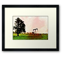 Texas Tea Time Framed Print