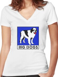 Big Dog Sportswear Women's Fitted V-Neck T-Shirt