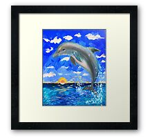 From 5D Realms Dolphin Bliss Framed Print