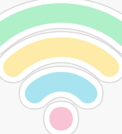 Pastel Rainbow Wi-Fi Sticker