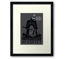 History Lesson No.1 Framed Print