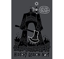 History Lesson No.1 Photographic Print