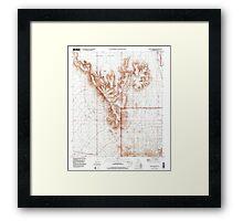 USGS TOPO Map Arizona AZ Childs Mountain 310851 1996 24000 Framed Print