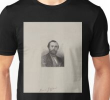 0130 ballooning Henri Giffard French balloonist head and shoulders portrait E A Tilly Unisex T-Shirt