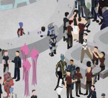 Mass Effect: Bar in Heaven (Femshep) Sticker