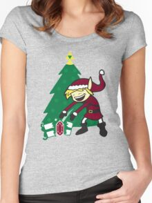 kid santa Women's Fitted Scoop T-Shirt