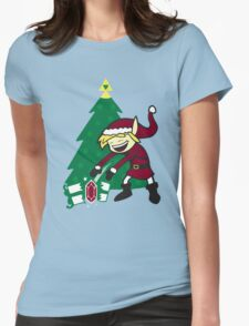 kid santa Womens Fitted T-Shirt