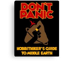 Hobbithiker's Guide to Middle Earth Canvas Print