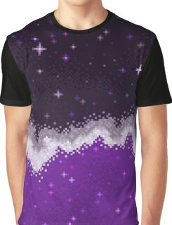Ace Pride Flag Galaxy Graphic T-Shirt