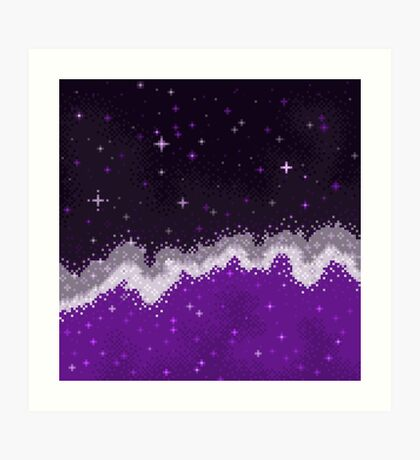 Ace Pride Flag Galaxy Art Print