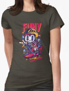 skull go skate Womens Fitted T-Shirt