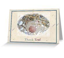 Thank You Greeting Card - Shells on Beach Greeting Card