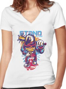 stan alone Women's Fitted V-Neck T-Shirt