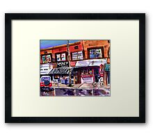 Blackie's and the Beach Ball, Newport Beach Framed Print