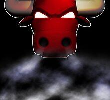 Bulls smoke by dsalinasdesigns
