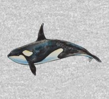 Orca on blue Baby Tee