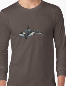 Orca on blue Long Sleeve T-Shirt