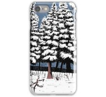 Backyard Snowfall iPhone Case/Skin