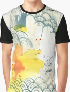 abstract, chinesische Landschaft, ink painting, Chinese landscape, Malerei Graphic T-Shirt