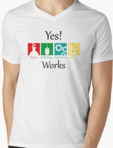 yes work science Mens V-Neck T-Shirt