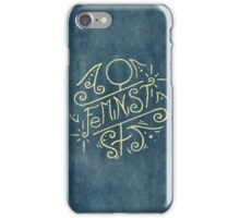 Feminist - Watercolour Illustration of Ornate Lettering With Flourishes iPhone Case/Skin