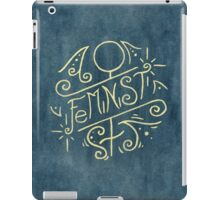 Feminist - Watercolour Illustration of Ornate Lettering With Flourishes iPad Case/Skin