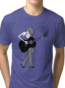 The Girl and the Guitar  Tri-blend T-Shirt