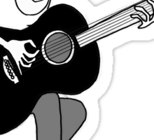 The Girl and the Guitar  Sticker
