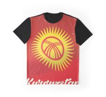kyrgyzstan Flag Vintage travel poster  Graphic T-Shirt
