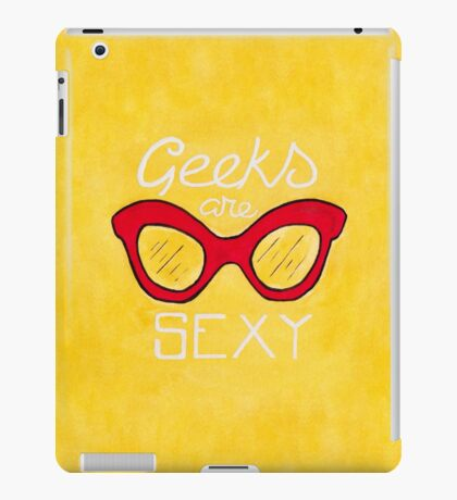 Geeks are Sexy - Vintage Glasses iPad Case/Skin