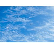 Blue sky with Light Cirrus clouds Photographic Print