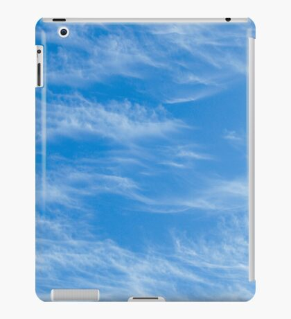 Blue sky with Light Cirrus clouds iPad Case/Skin