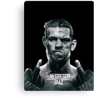 McGregor Vs Nate Diaz Rematch Canvas Print